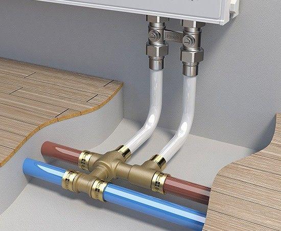 Монтаж радиаторовна трубы металлопластик
